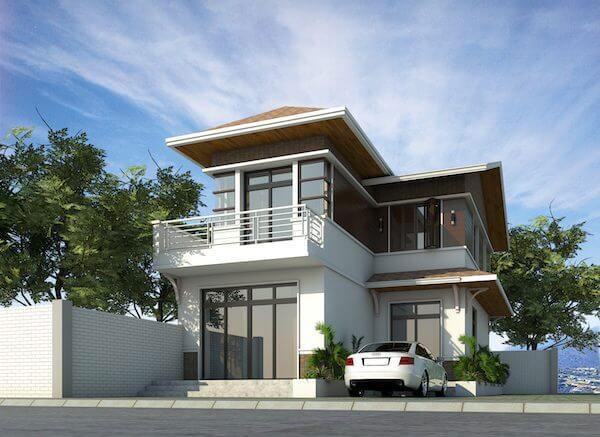 Mẫu biệt thự 2 tầng hiện đại có tính thẩm mỹ và tính ứng dụng được nhiều người yêu thích