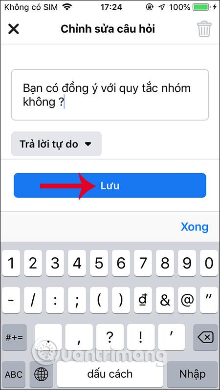 Cách tạo câu hỏi duyệt thành viên nhóm Facebook - Ảnh minh hoạ 4