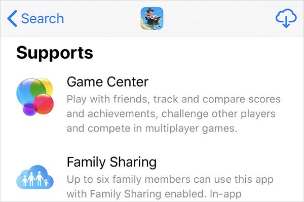 Thông tin trong ứng dụng trên App Store