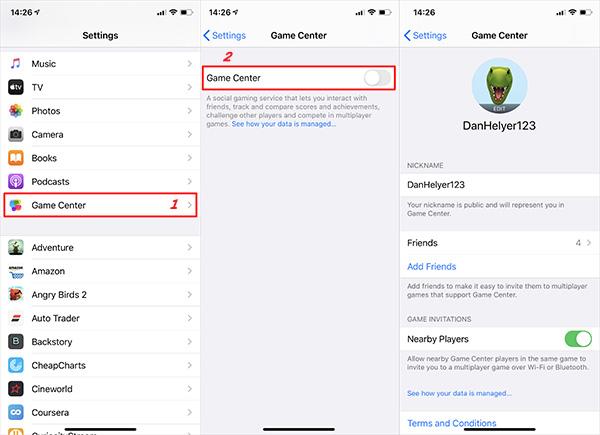 Cách đăng nhập Game Center trên iPhone