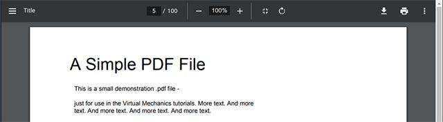 Giao diện mới của PDF Viewer