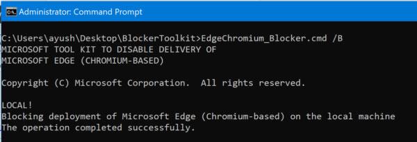 Chặn tải xuống trình duyệt web Chromium Microsoft Edge trên máy tính