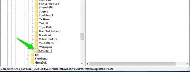 Nếu key Serialize đã được tạo ra trong key Explorer, thì không cần phải thực hiện quy trình trên