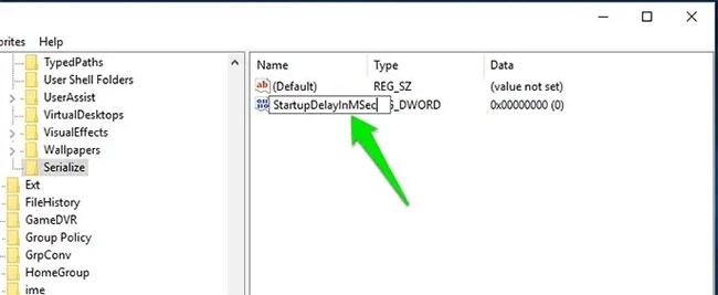 Đổi tên key này thành StartupDelayInMSec