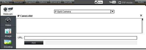 Đảm bảo chọn IP Split Camera