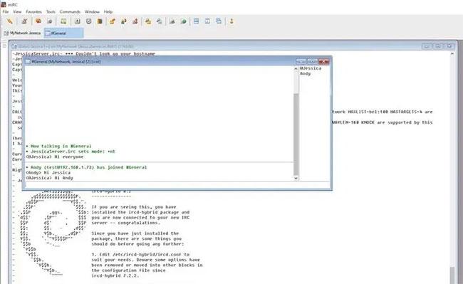 Nhấp vào Add để có thể kết nối với IRC server