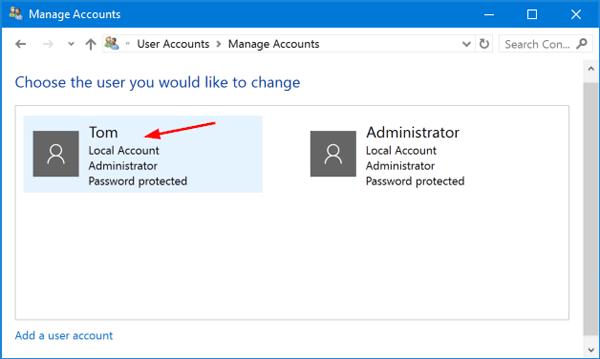Nhập mật khẩu hiện tại và sau đó nhập mật khẩu mới