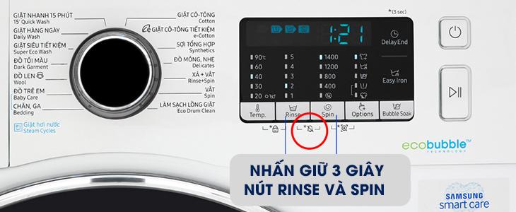 Tính năng tắt chuông báo trên máy giặt Samsung