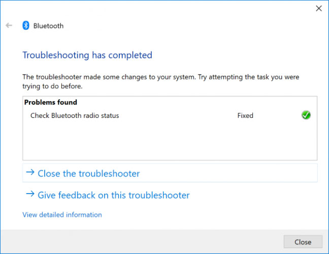Chạy Bluetooth Troubleshooter