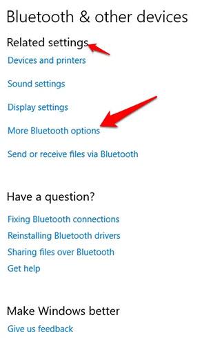 Chuyển đổi thanh trượt Bluetooth sang vị trí On