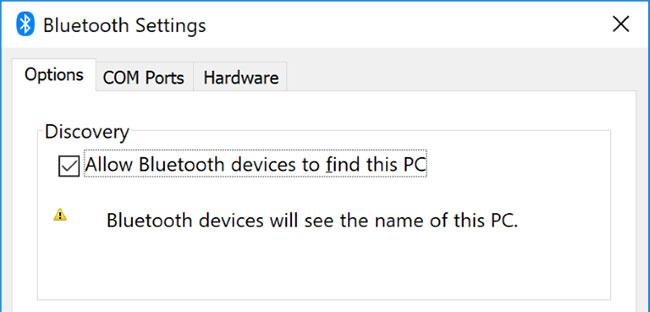 Vô hiệu hóa các thiết bị Bluetooth khác