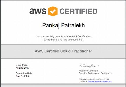 Đây là chứng chỉ do Amazon cấp để chứng nhận rằng bạn có hiểu biết cơ bản về hệ thống điện toán đám mây AWS
