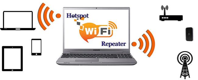 Tăng phạm vi mạng WiFi với phần mềm WiFi extender Connectify Hotspot