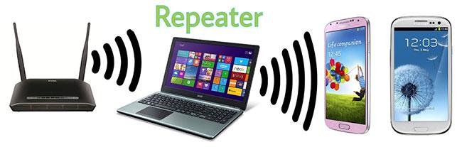 Phần mềm repeater không dây biến máy tính Windows của bạn thành WiFi repeater một cách dễ dàng