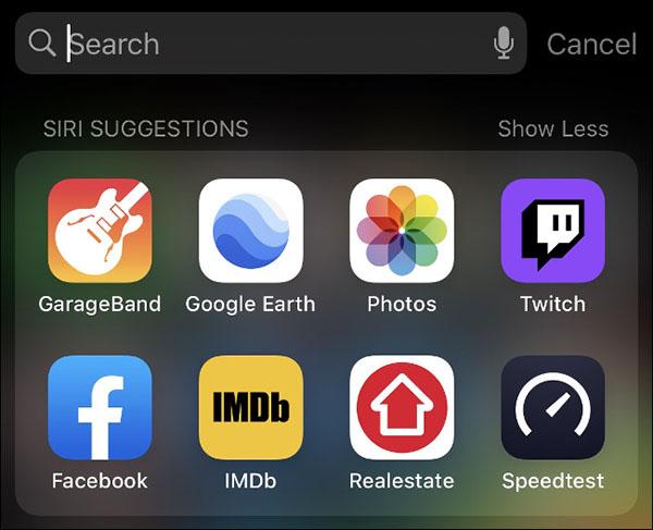 Dùng Spotlight để tìm kiếm ứng dụng