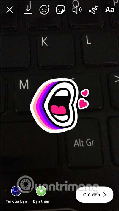 Cách ghim emoji, sticker trong video Story Instagram - Ảnh minh hoạ 5
