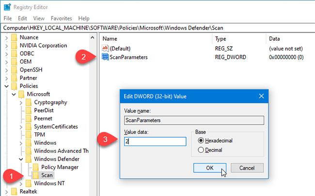 Cách thay đổi kiểu quét theo lịch trình mặc định trong Microsoft Defender - Ảnh minh hoạ 2