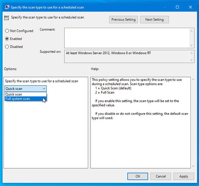 Cách thay đổi kiểu quét theo lịch trình mặc định trong Microsoft Defender - Ảnh minh hoạ 4