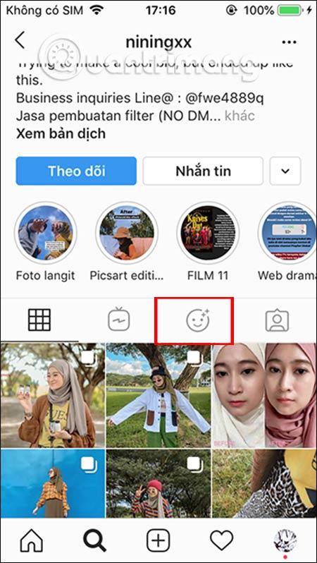 Cách dùng filter We Bare Bear trên Instagram - Ảnh minh hoạ 2