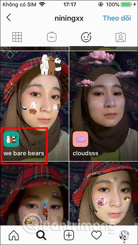 Cách dùng filter We Bare Bear trên Instagram - Ảnh minh hoạ 3