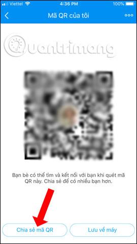 Chia sẻ mã QR