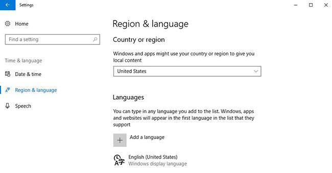 Kiểm tra cài đặt ngôn ngữ và khu vực