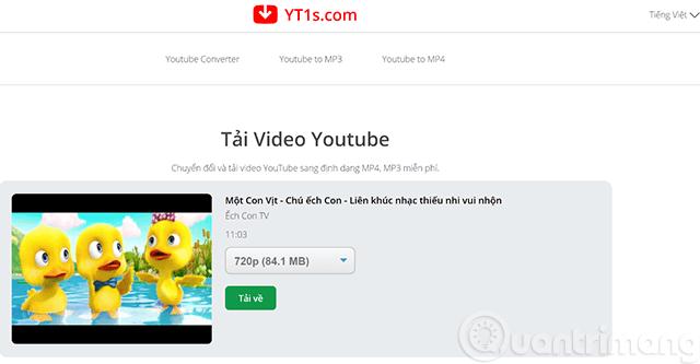Nhấn nút Tải về để tải video