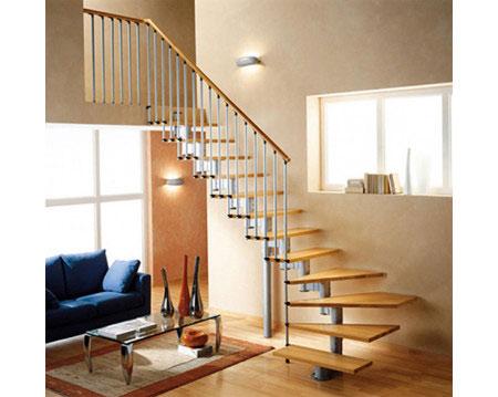 Mẫu cầu thang gác lửng đơn giản