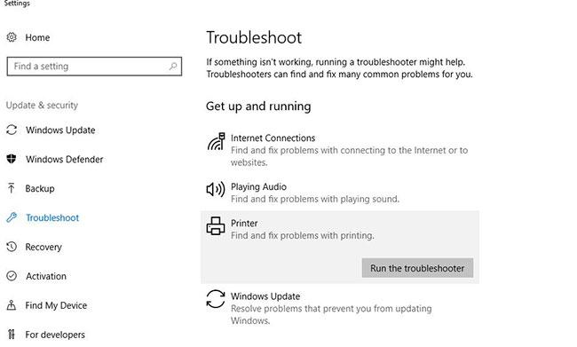 Nhấp vào Run the Troubleshooter