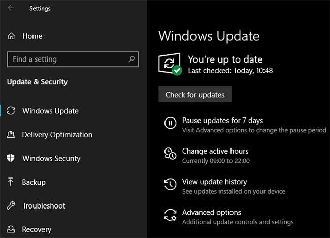 Chạy Windows Update