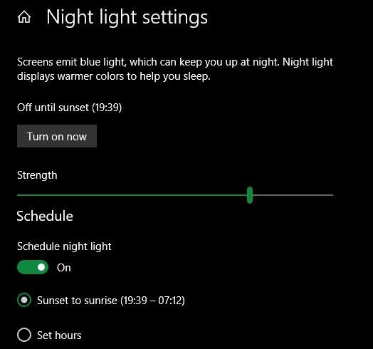 Bật Night Light