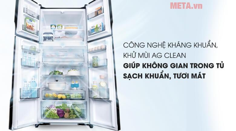 Công nghệ kháng khuẩn AG Clean giúp khử mùi hiệu quả
