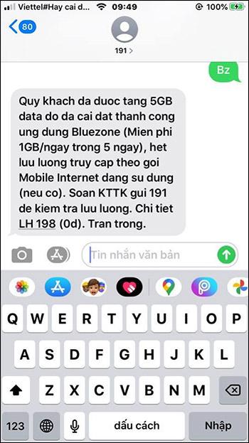 Nhận 5GB Viettel