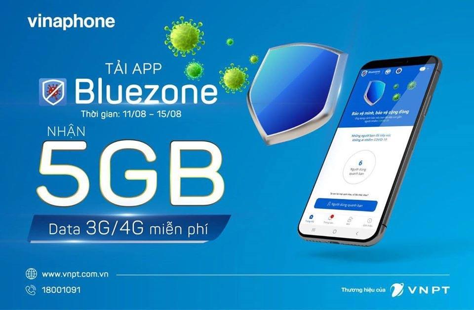 5GB dữ liệu miễn phí từ Vinaphone khi cài đặt Bluezone