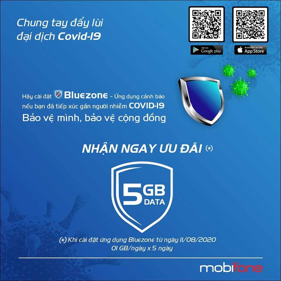 Mobifone tặng 5GB dữ liệu di động miễn phí khi cài Bluezone