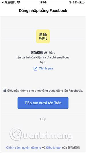 Đăng ký qua Facebook