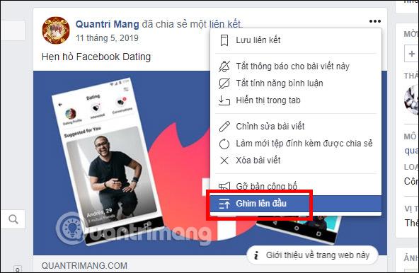 Cách ghim bài viết Fanpage, group Facebook - Ảnh minh hoạ 13