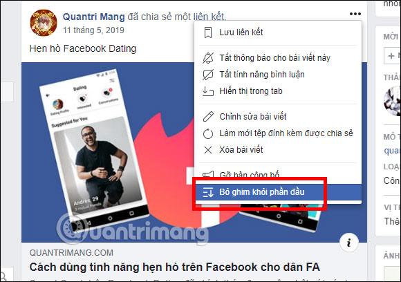 Cách ghim bài viết Fanpage, group Facebook - Ảnh minh hoạ 14