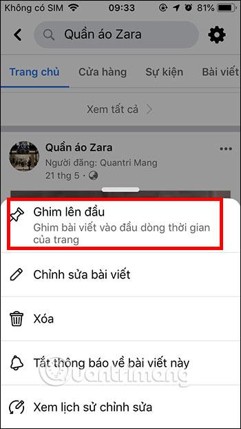 Cách ghim bài viết Fanpage, group Facebook - Ảnh minh hoạ 2