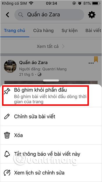 Cách ghim bài viết Fanpage, group Facebook - Ảnh minh hoạ 4