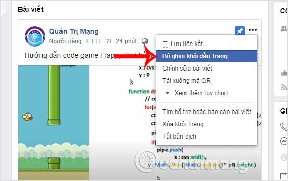 Cách ghim bài viết Fanpage, group Facebook - Ảnh minh hoạ 6