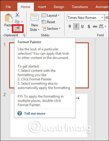 Cách sao chép nhanh định dạng slide PowerPoint - Ảnh minh hoạ 2