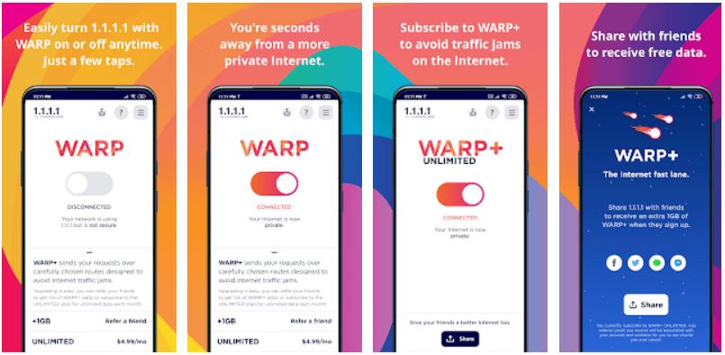 VPN Warp+ 1.1.1.1