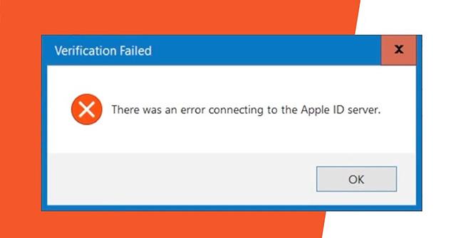 Khắc phục lỗi kết nối với máy chủ Apple ID trên Windows 10