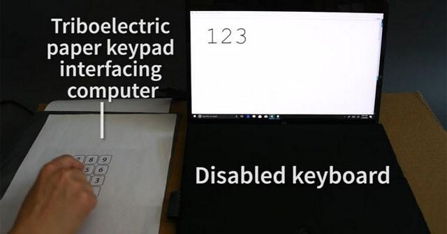Tạo ra bàn phím từ bất kỳ loại giấy nào