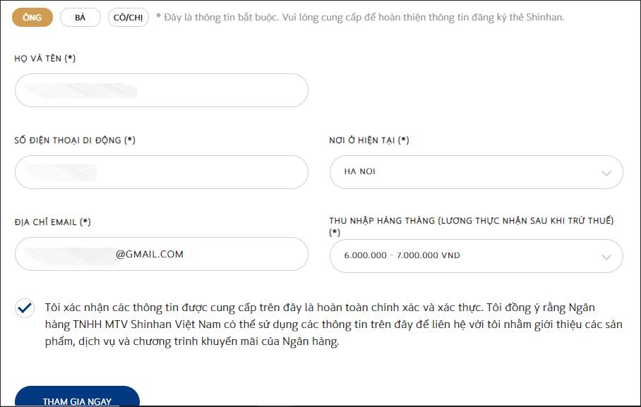 Cách mở thẻ tín dụng Shinhan Bank, thủ tục đăng ký thẻ Shinhan Bank