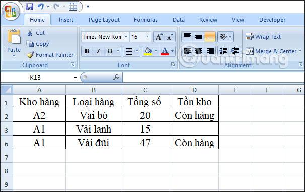 Cách dùng hàm SUBTOTAL trong Excel - Ảnh minh hoạ 3