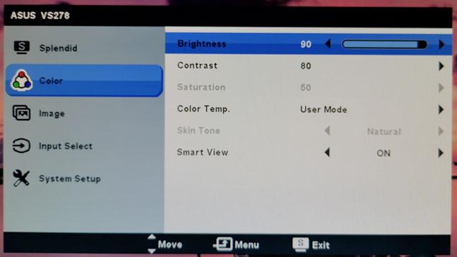 Bạn có thể phải xem qua menu cụ thể của màn hình để tìm các cài đặt điều khiển độ sáng