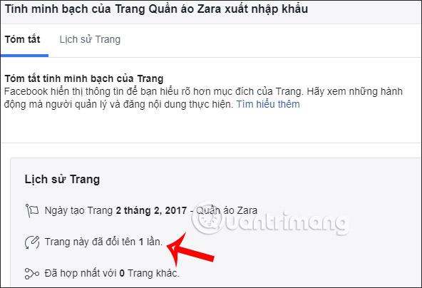 Cách xem lịch sử đổi tên Fanpage Facebook - Ảnh minh hoạ 2