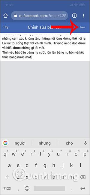 Cách viết status dài trên Facebook có màu nền - Ảnh minh hoạ 4